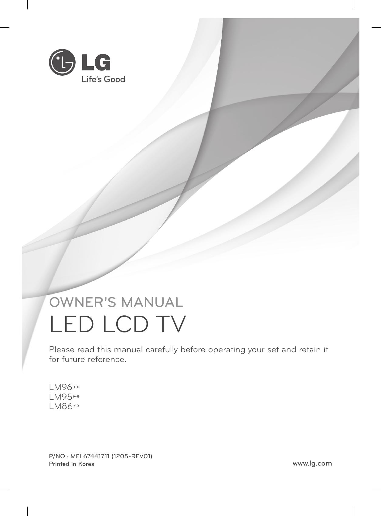 Lg 47lm960v Users Manual Mfl67441711 A 0 Recherche Pot Pro Circuit Pour 85 Yz