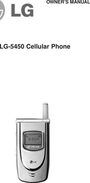 Lg 5450 Users Manual 5450_USER MANUAL_E