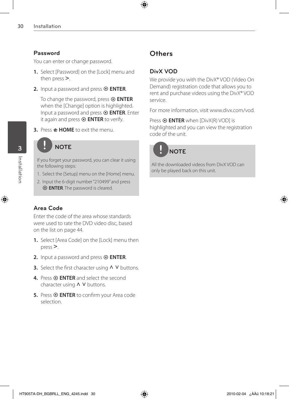 Lg Ht905Ta Owner S Manual DH_BGBRLL_ENG_4245