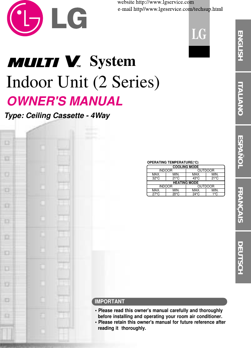 Lg La185Hv Users Manual