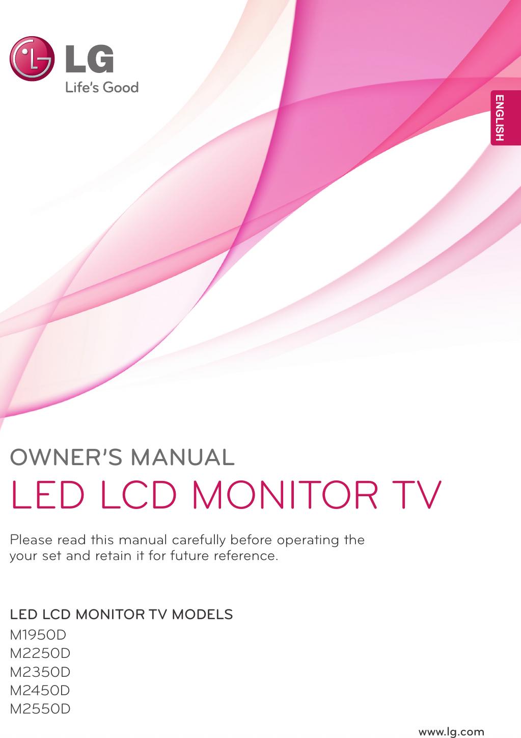 Lg M2550D Owner S Manual