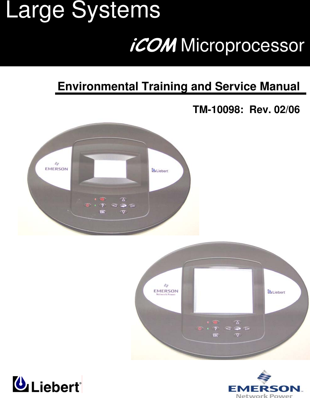 Liebert Icom Microprocessor Tm 10098 Users Manual Ts Ic A200 Wiring Diagram