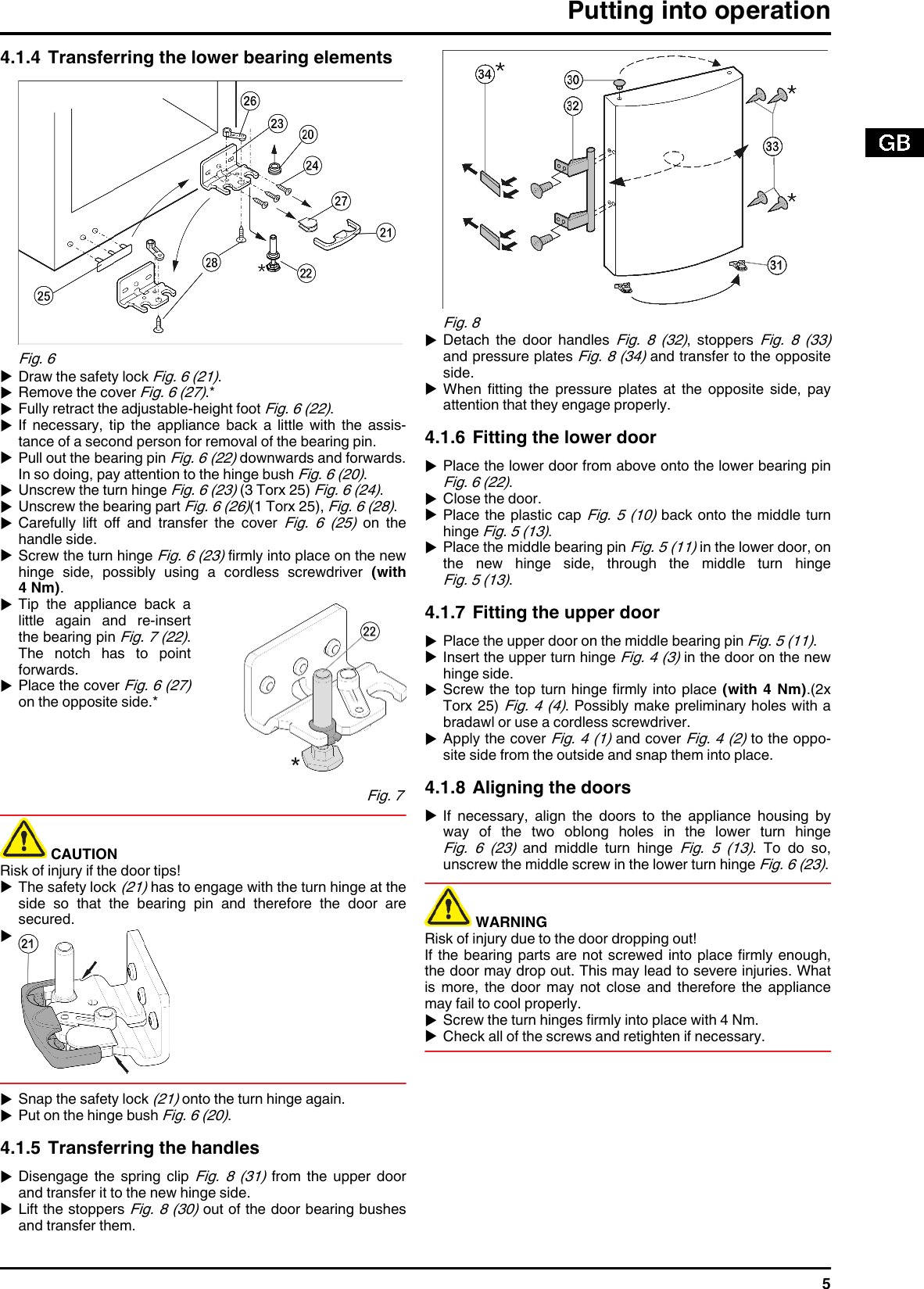 Liebherr Combined Fridge Freezer 290910 7084364 03 Users Manual Key Switch Wiring Diagram Page 5 Of 12