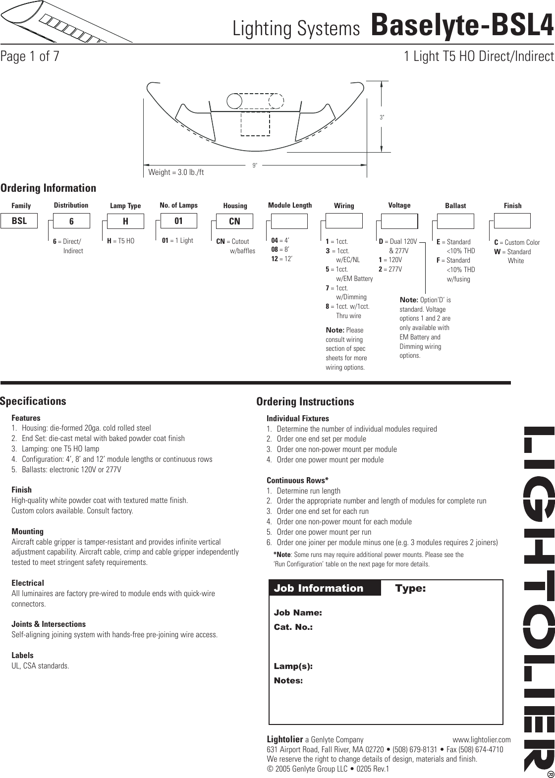 LightolierBaselyteBsl4UsersManual572149.224450269 User Guide Page 1 lightolier baselyte bsl4 users manual