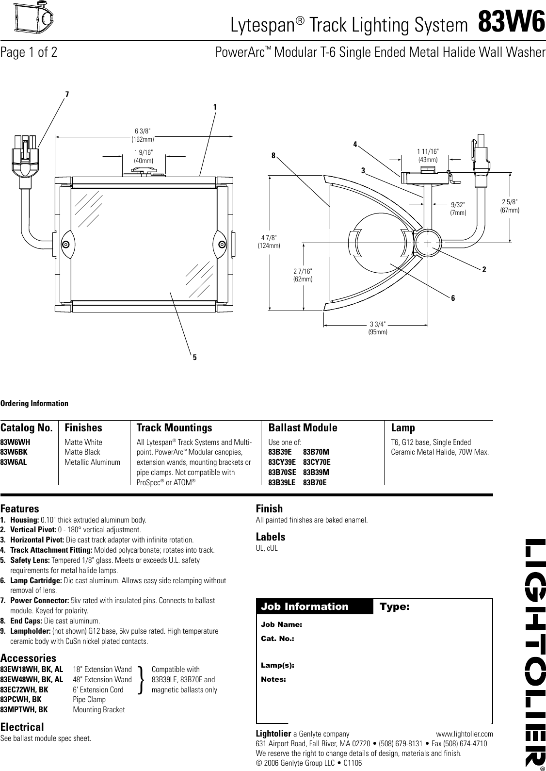 Lightolier lytespan track lighting system 83w6 users manual aloadofball Choice Image