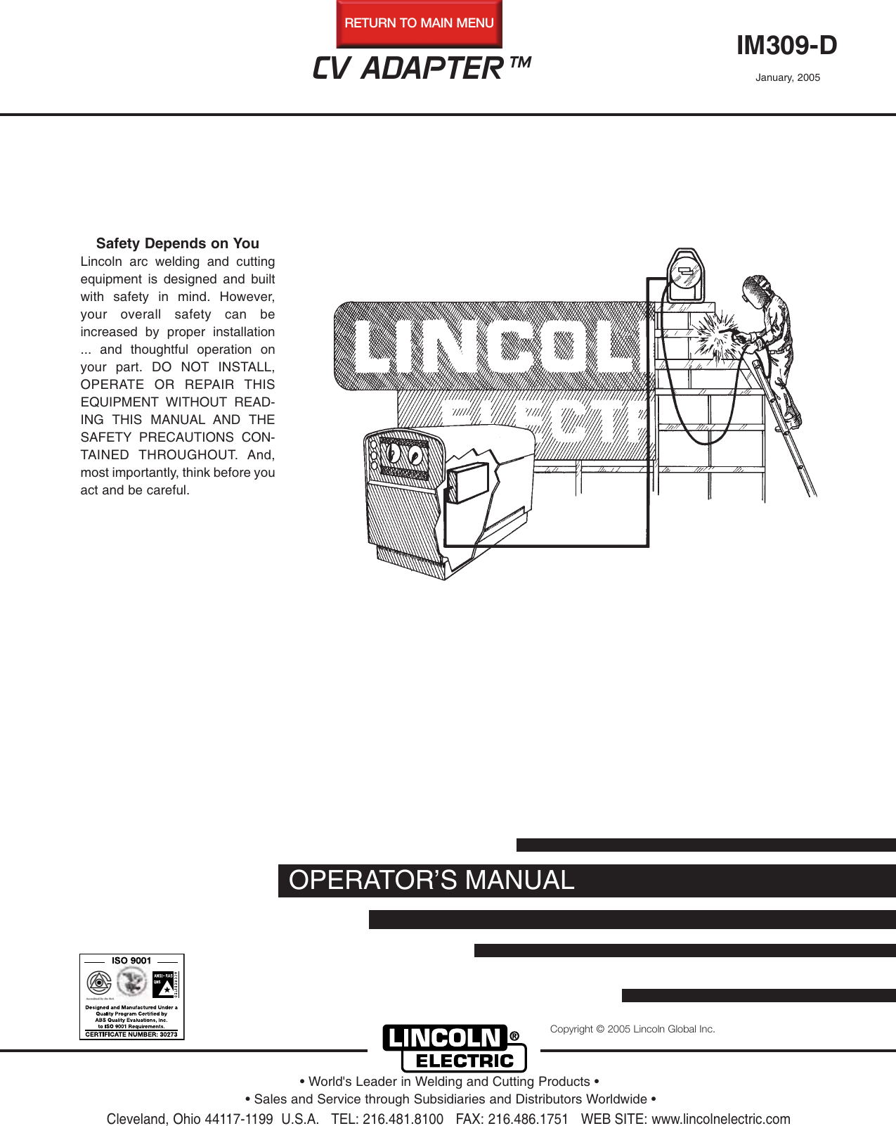 lincoln electric cv adapter im309 d users manualLincoln Sa 200 Welder Wiring Diagram Besides Spark Plug Wiring Diagram #8