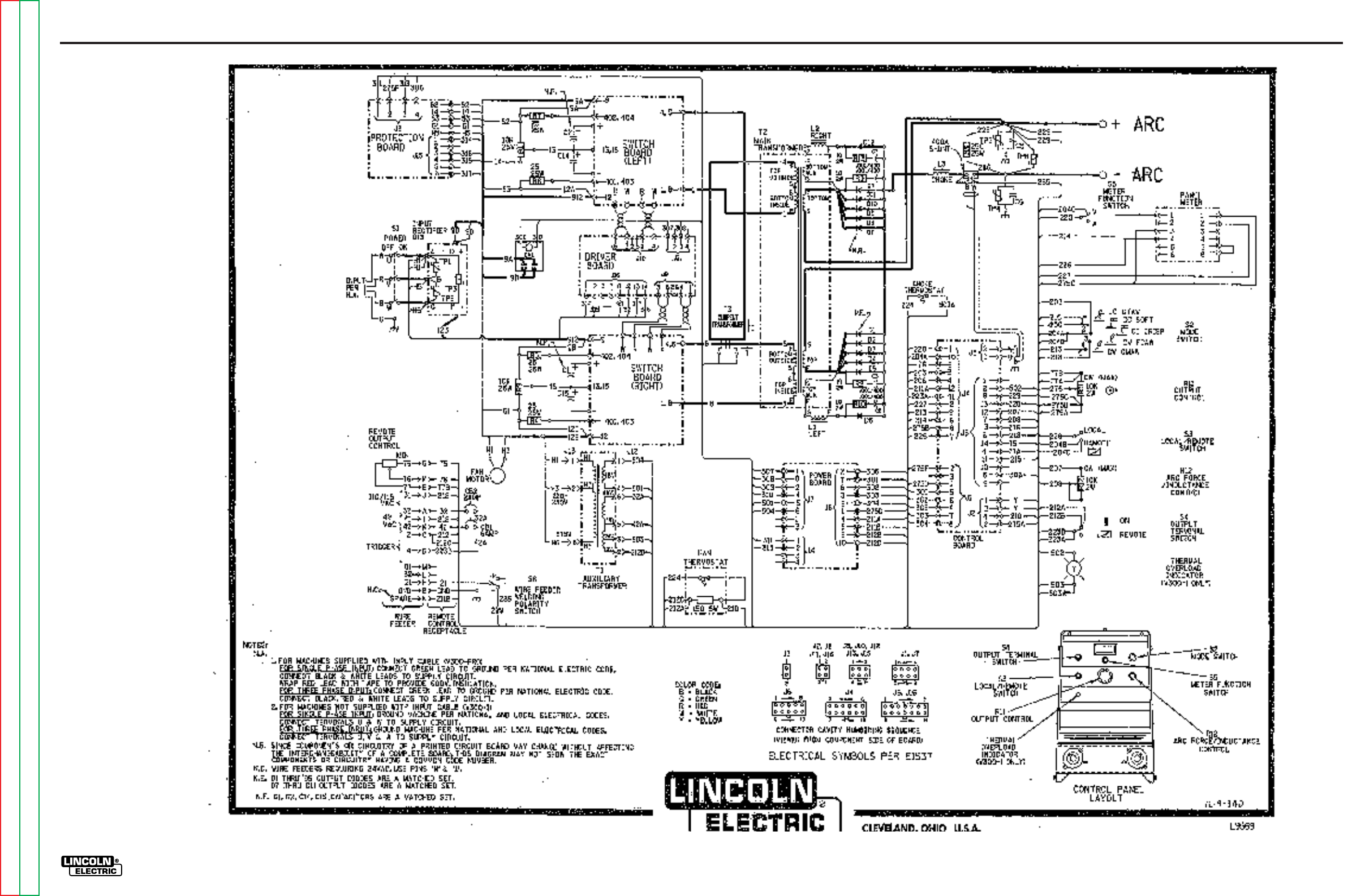 Lincoln Air Vantage 500 Wiring Diagram Welding Machines Motorola Alternator 9db2lj2b58 256 Schematic Electrical Diagrams On Engine