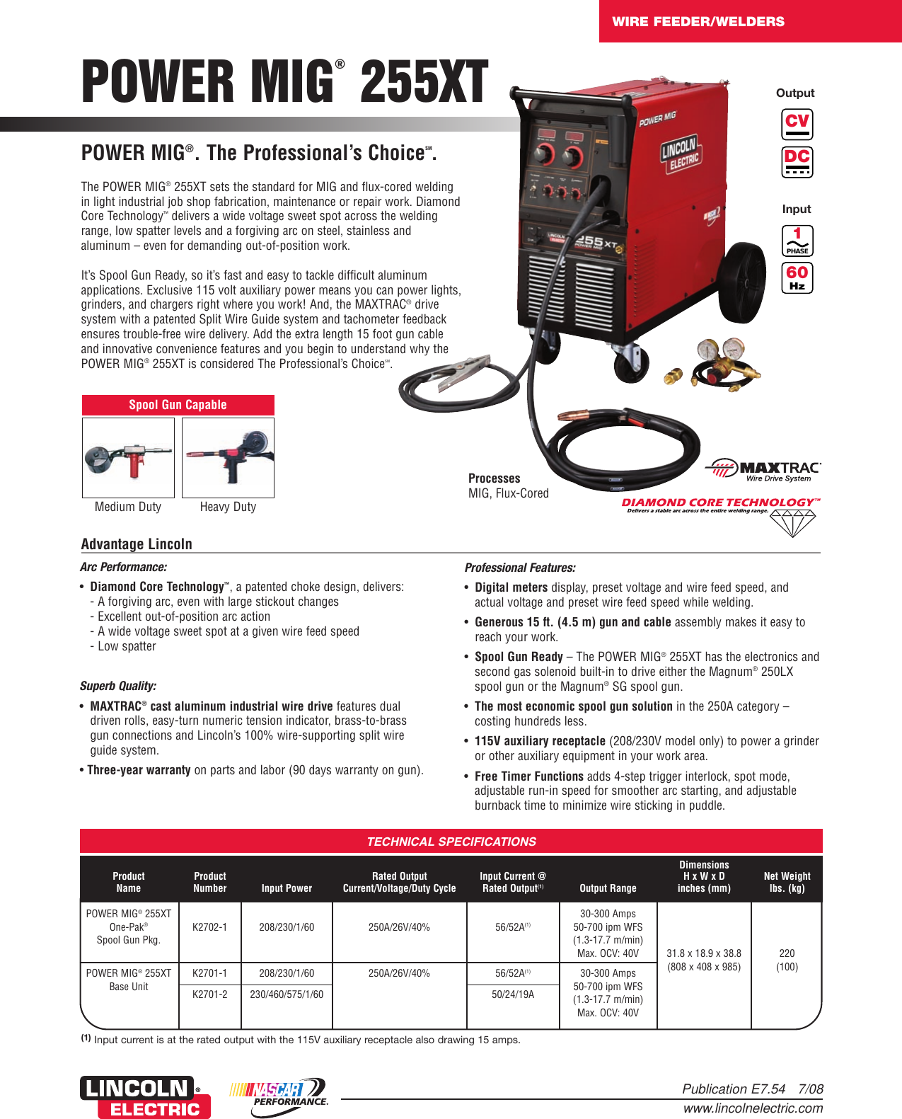 Lincoln Electric Power Mig 255xt Users Manual Wire Feeder Welders Image 50 Amp Welder Plug Wiring Download