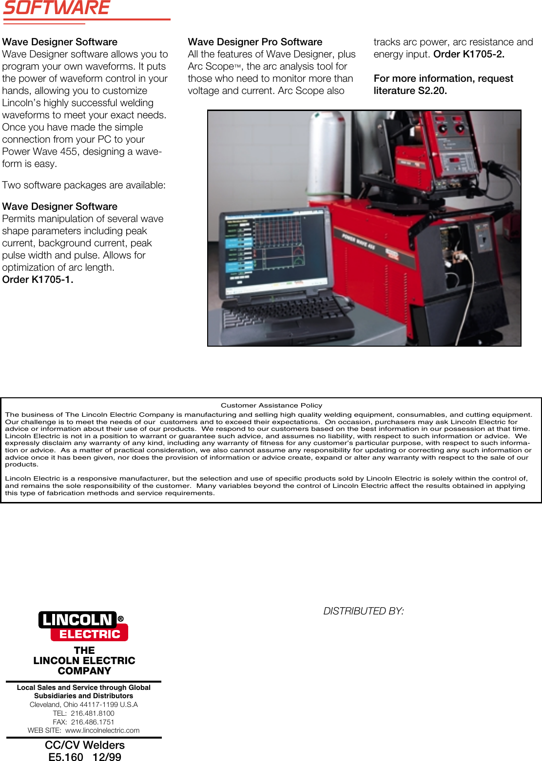 Lincoln Electric Power Wave Welding Systems Users Manual