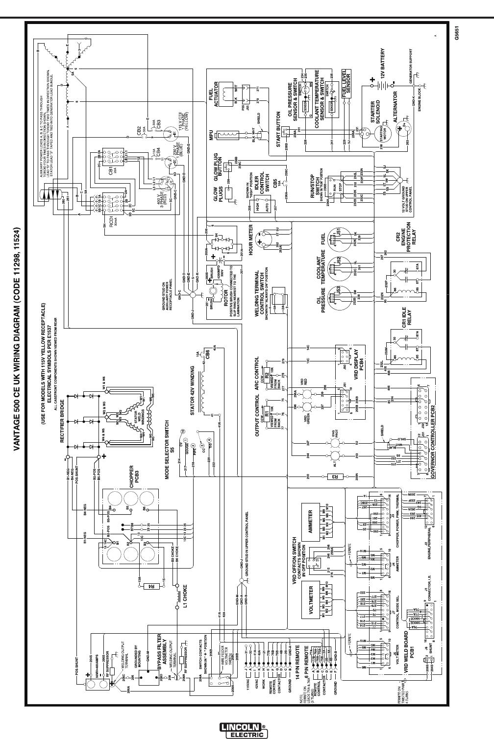 lincoln electric vantage 500 ce im894 b users manual. Black Bedroom Furniture Sets. Home Design Ideas