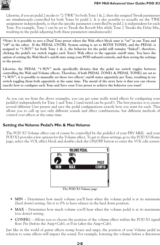 Line 6 Fbv Shortboard Mkii Owners Manual Advanced User Guide