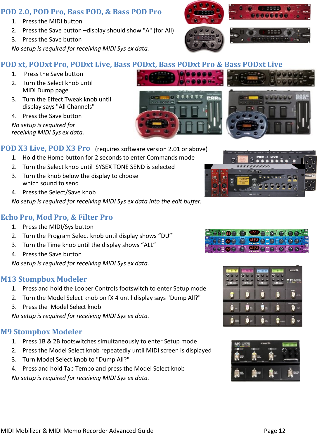 Line 6 Midi Mobilizer Owners Manual