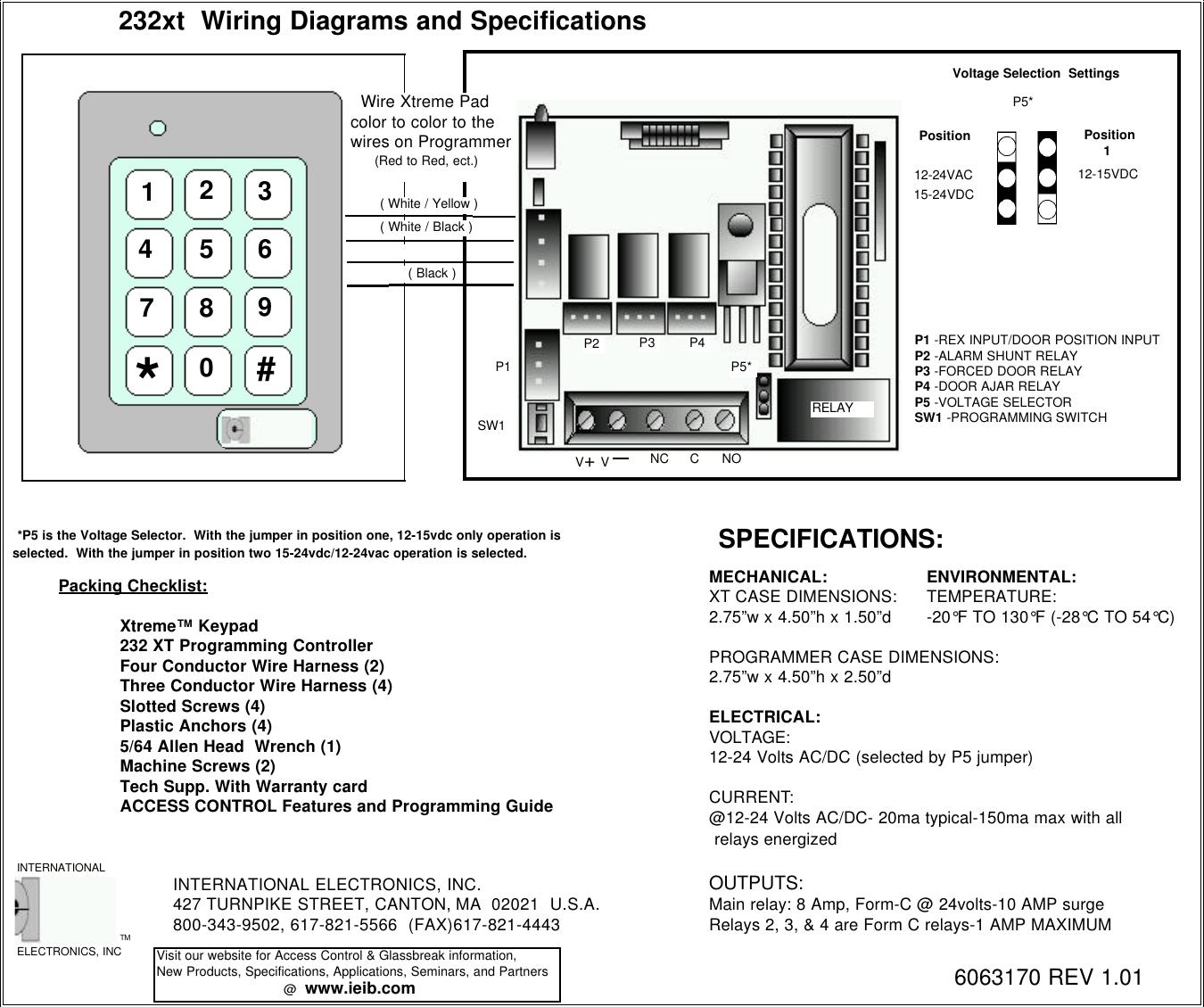 Linear 232Xt Owners Manual 232XTrev1_01 on dsc keypad wiring, iei keypads 212i manual, iei security keypads for doors, linear keypad wiring, alarm lock keypad wiring,