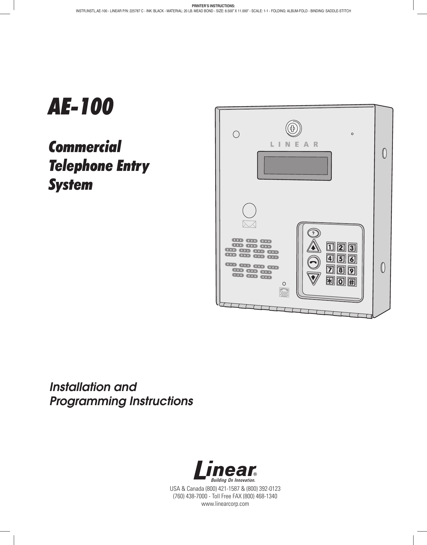 LINEAR CORPORATION ACP00941 Security Accessories 1
