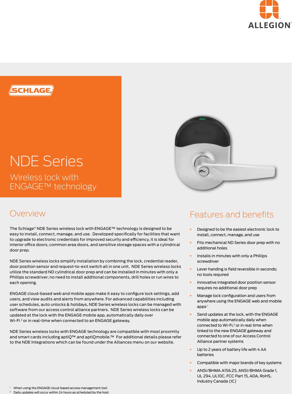 Locks NDE Series 110409