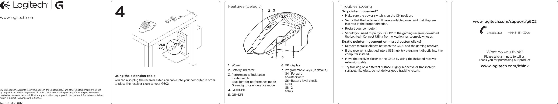 Logitech Far East MR0048 2 4GHz Cordless Mouse User Manual