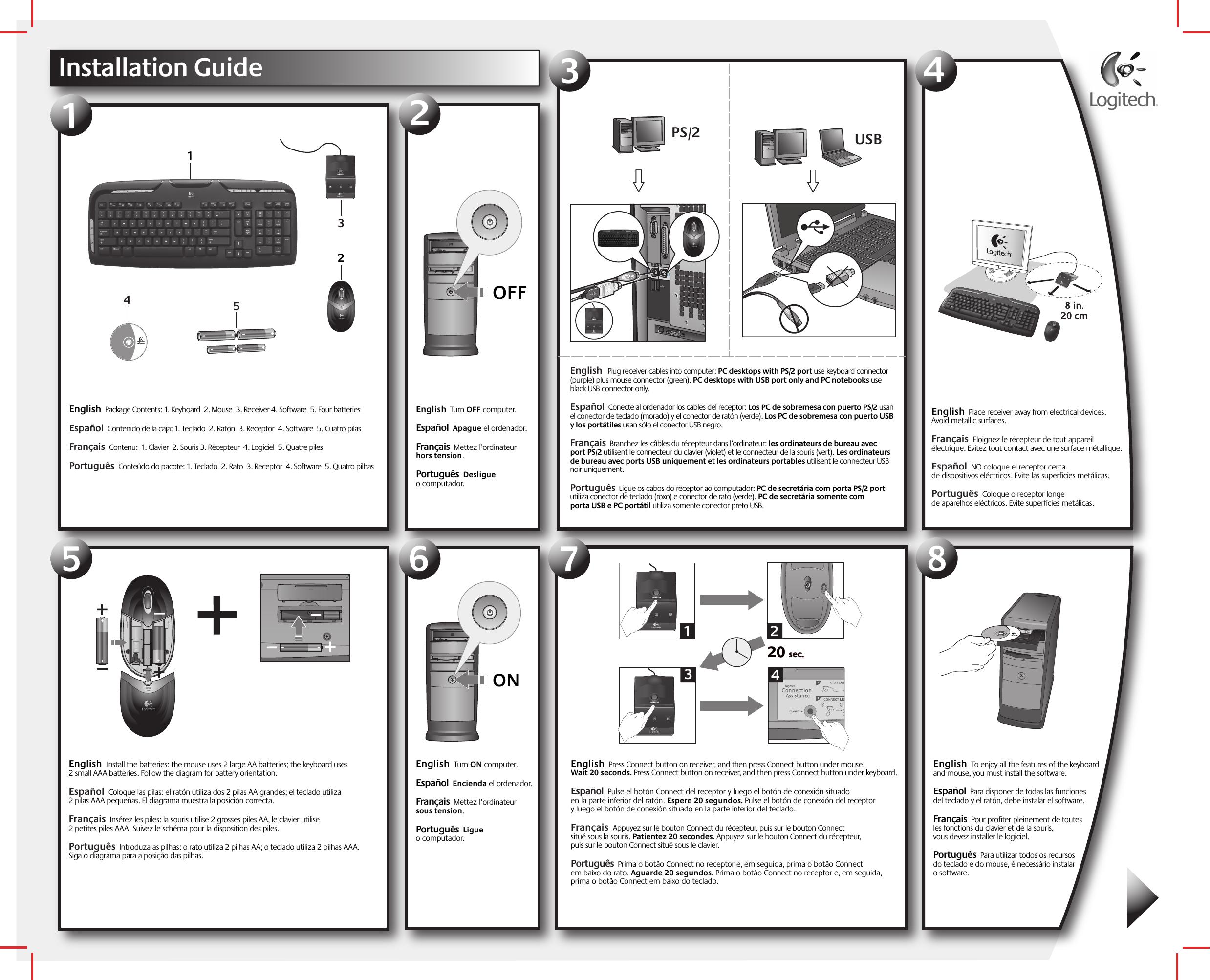 Logitech Far East YRAZ71 Wireless Keyboard User Manual 623059 1914