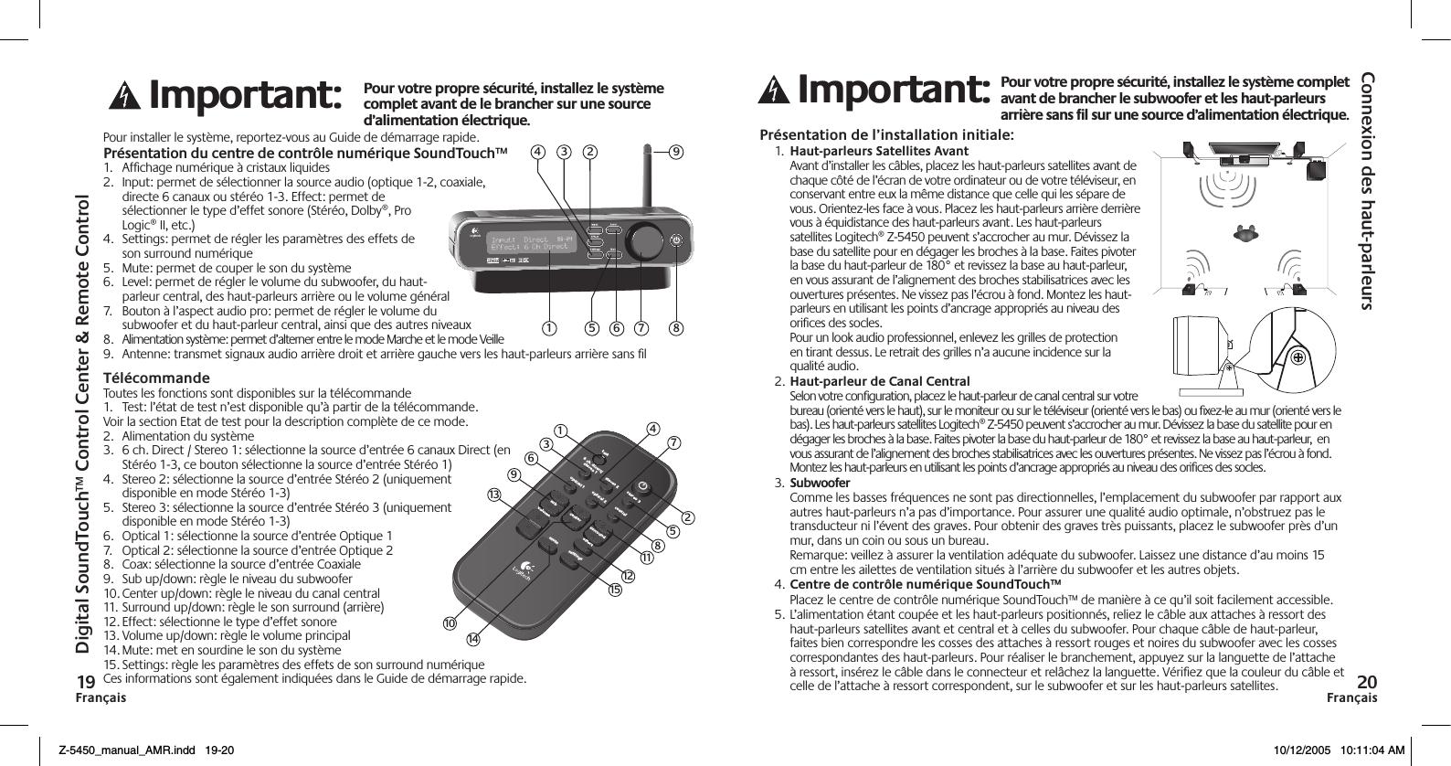 Logitech z 5450 manual