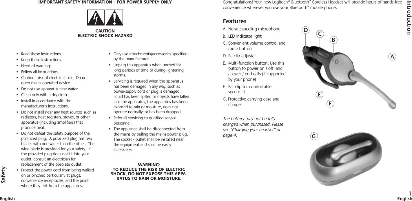 Logitech F0179a F 0179a User Manual Bluetooth Manual Nafta