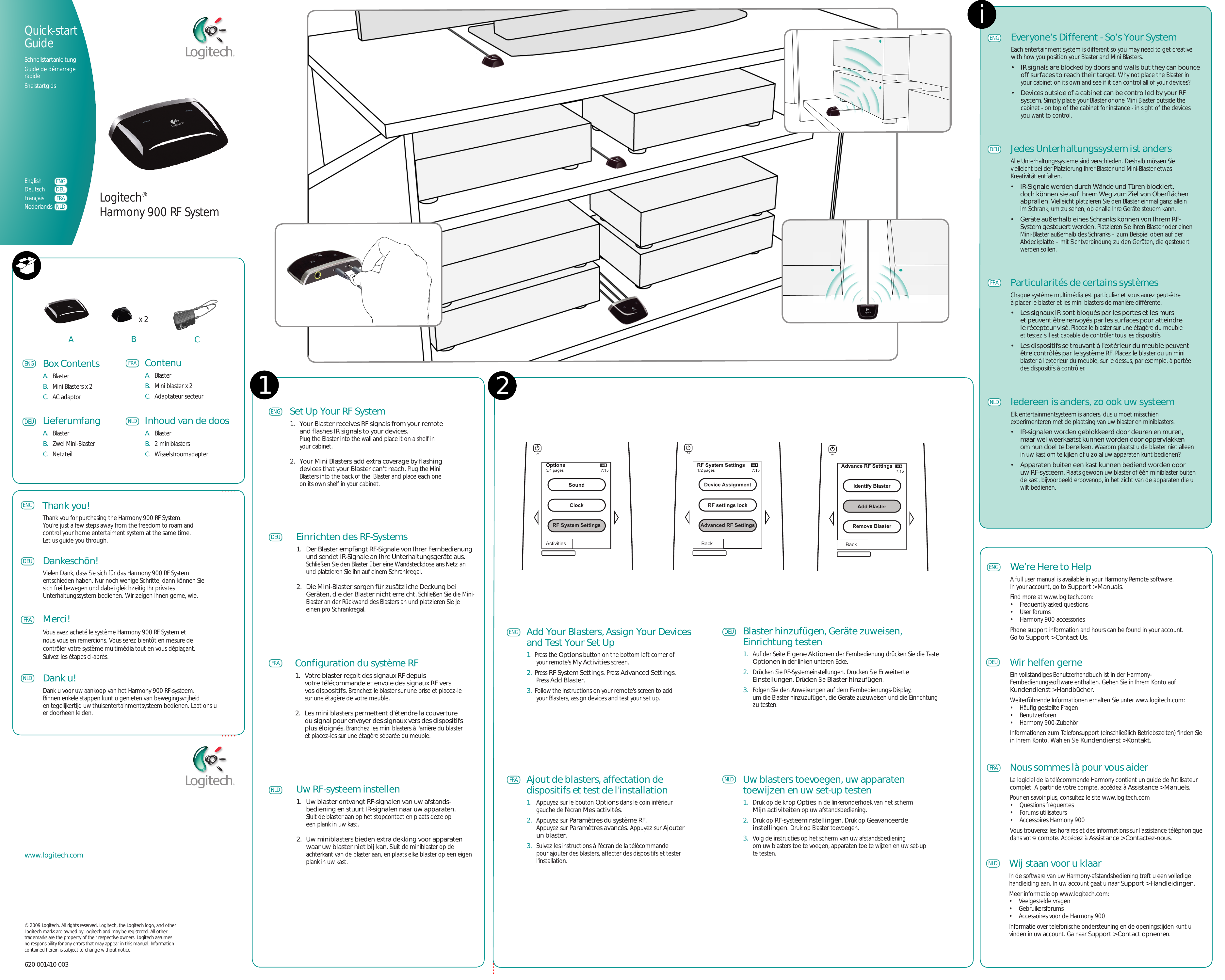 Logitech Harmony Rf System 900 Users Manual