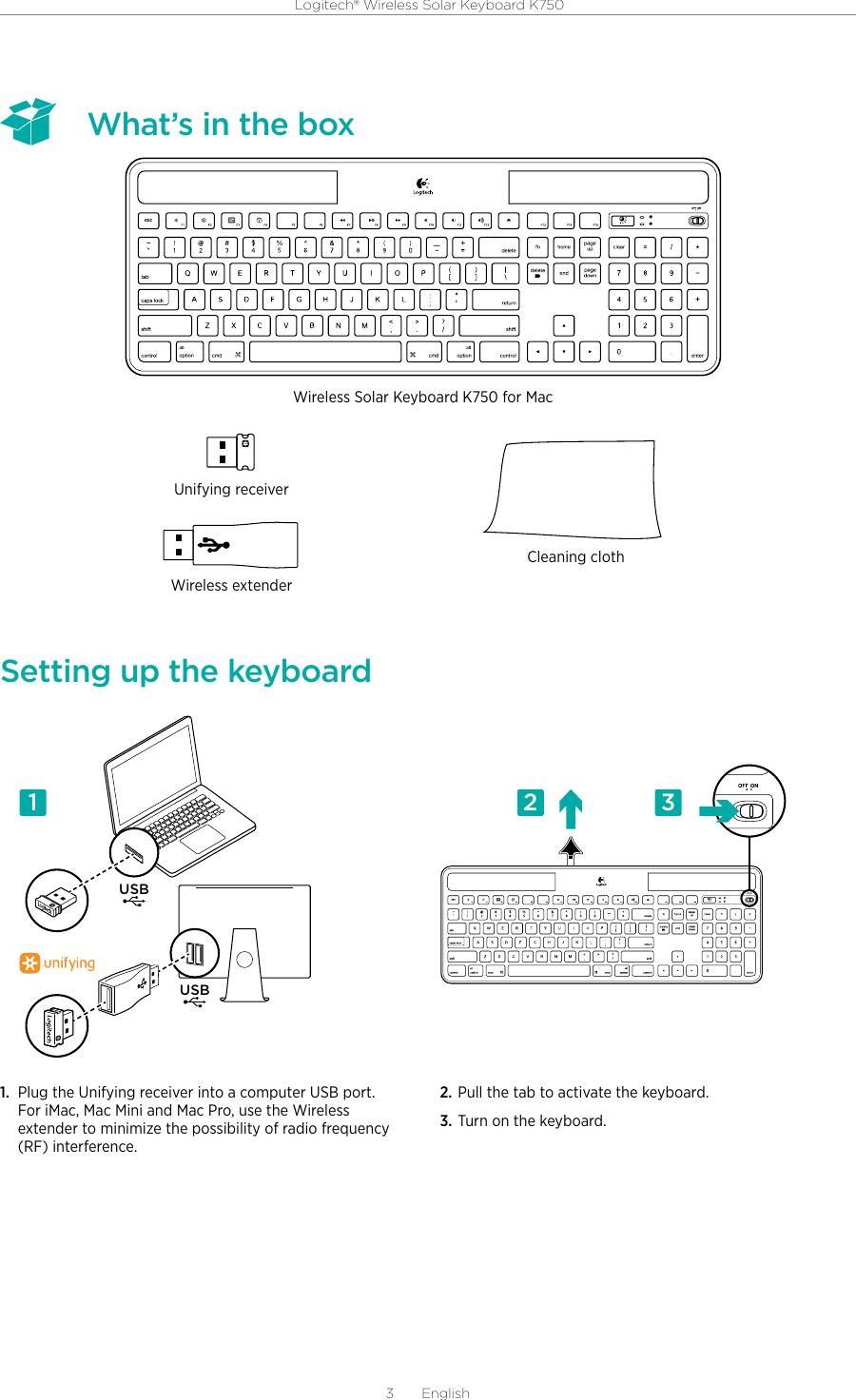 logitech k750 mac manual pdf