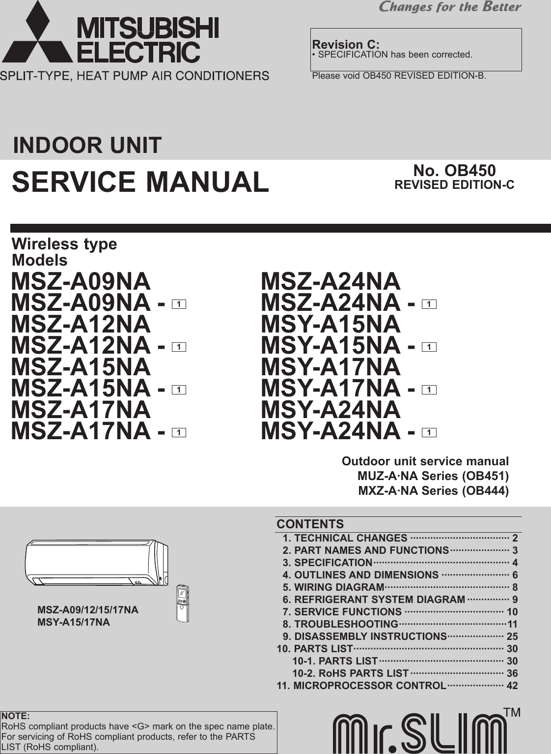 Logitech Msz A09na Users Manual Ob450c How To Wire An Air Conditioner For Control 5 Wires