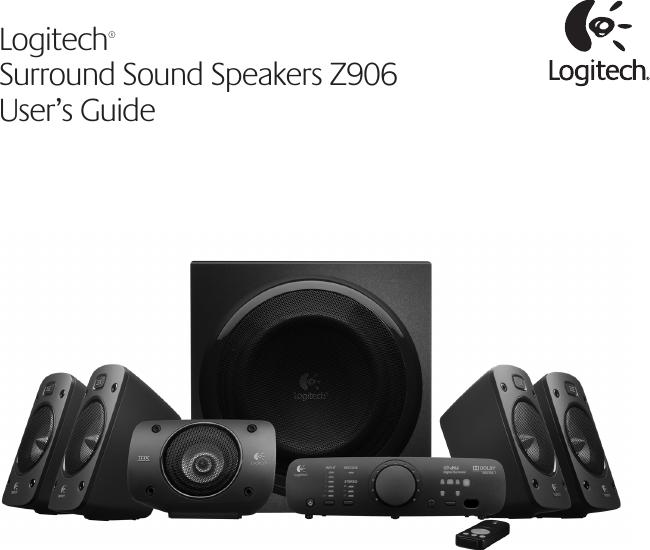 Logitech Z906 Users Manual