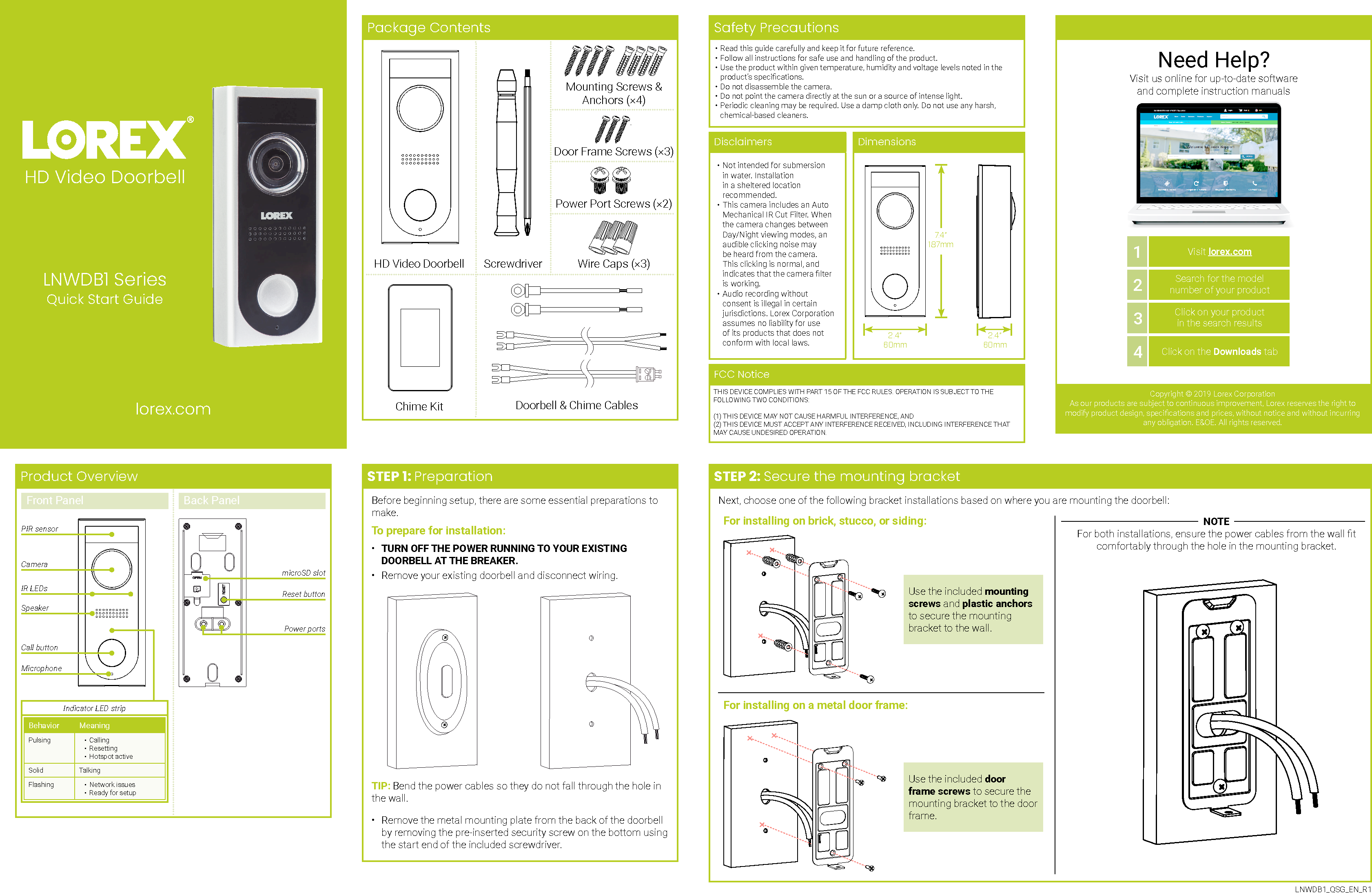 Wireless Doorbell Calling System Manual Guide