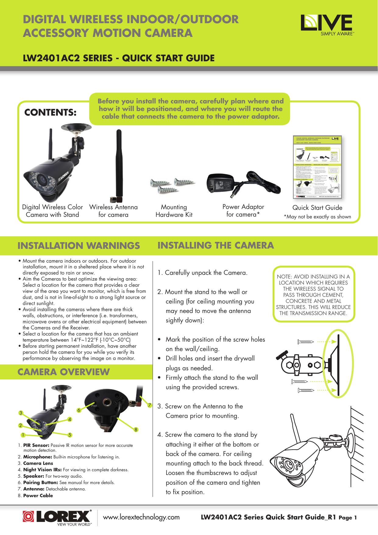 Lorex Installation Manual R33gtraudiowiringdiagram R33 Gtr Project Animal 183 Array Indoorzoutdoor Wireless Accessory Camera For Live Sense Home Rh Usermanual Wiki