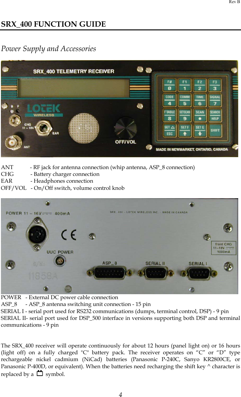 Lotek Wireless Srx400158 170 Telemetry Receiver User