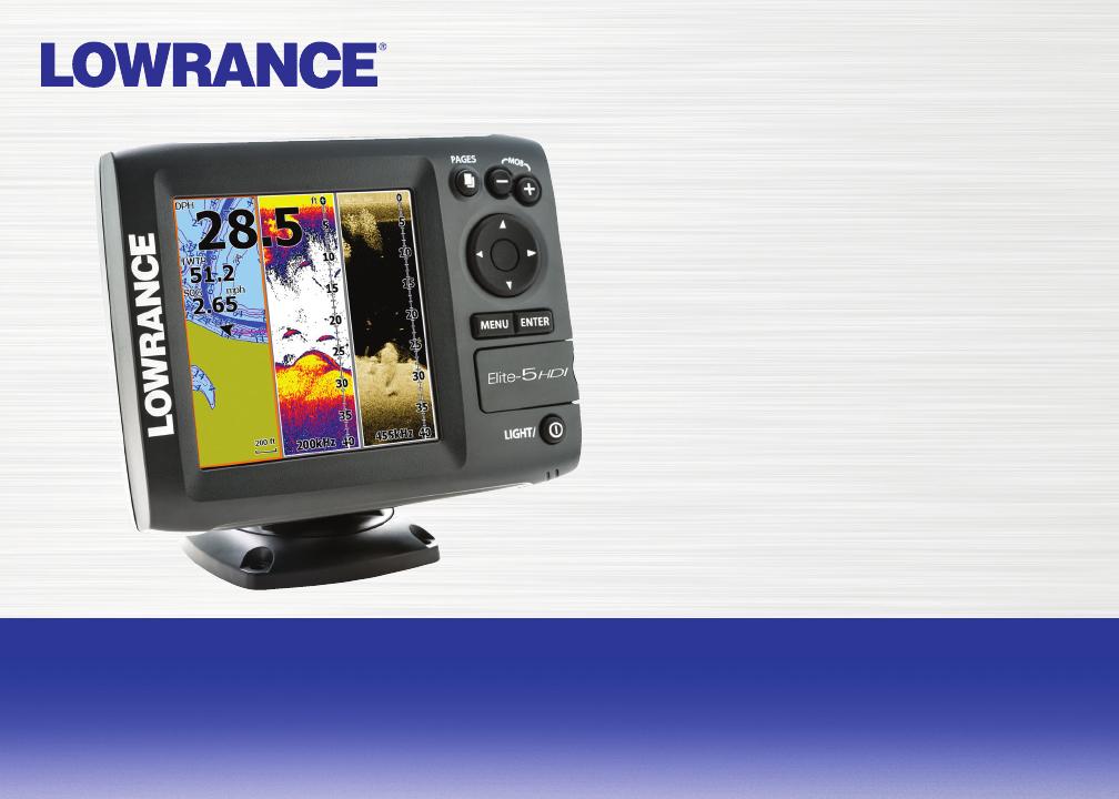 Lowrance Electronic Elite 5 Hdi Users Manual
