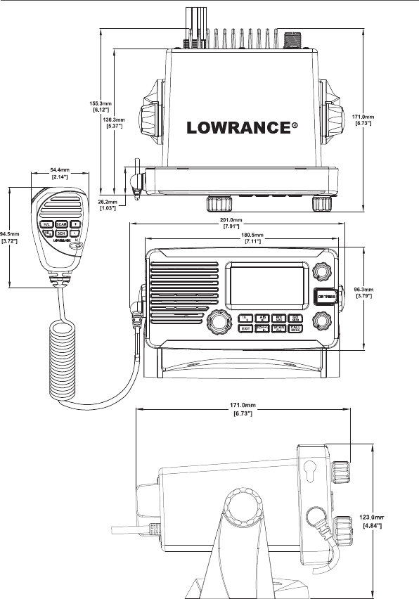 lowrance wiring schematic lowrance electronic link 8vhf users manual  lowrance electronic link 8vhf users manual