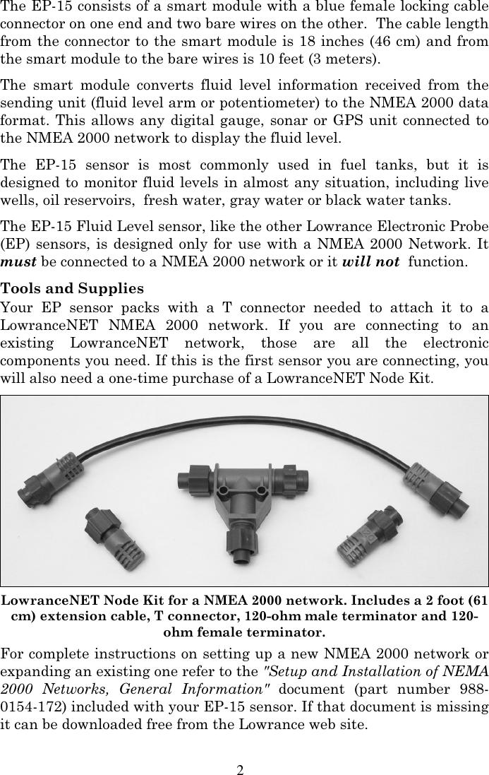 Lowrance Electronic Stud Sensor Ep 15 Users Manual Fluid