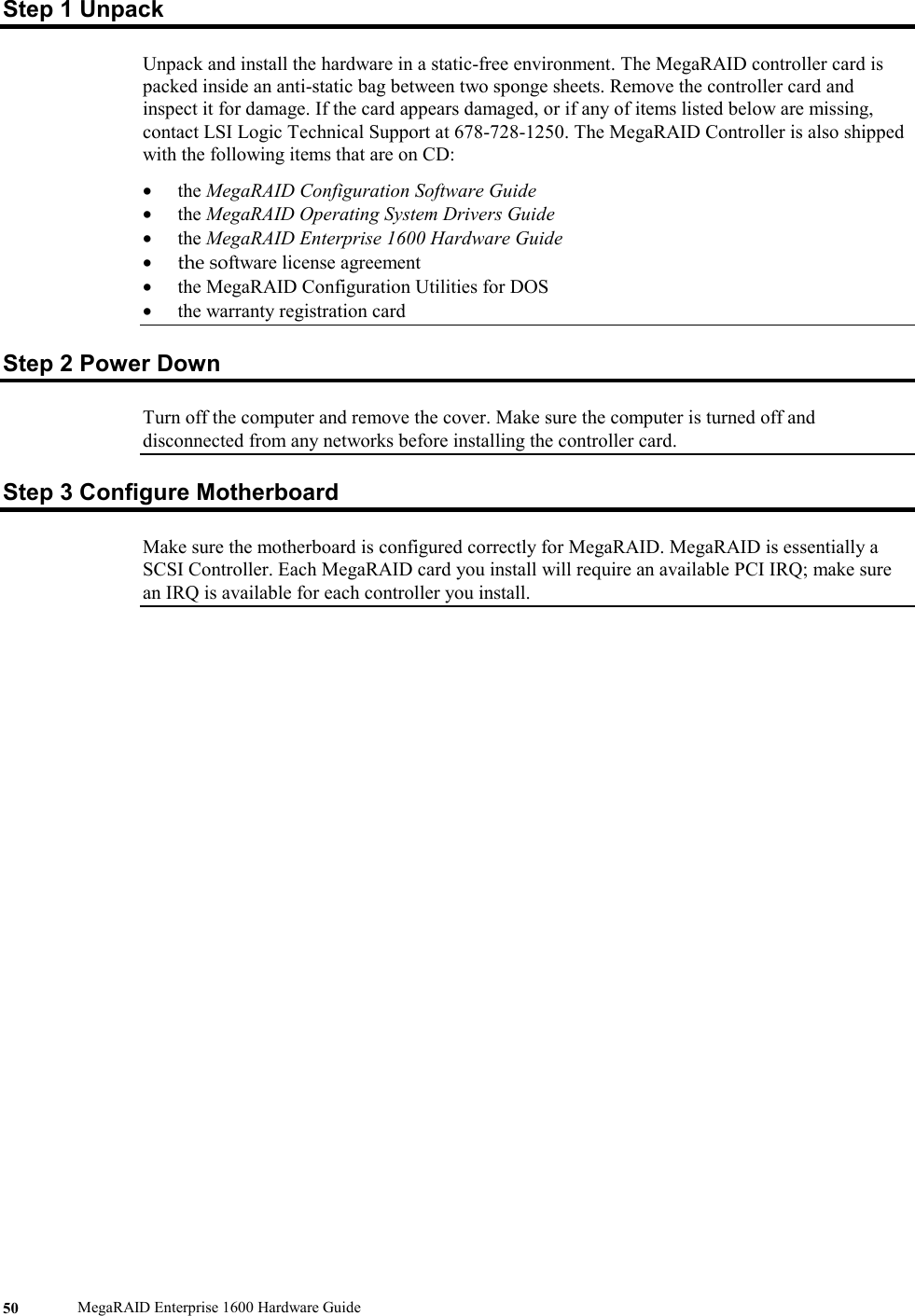 Lsi Megaraid Enterprise 1600 Users Manual 1600