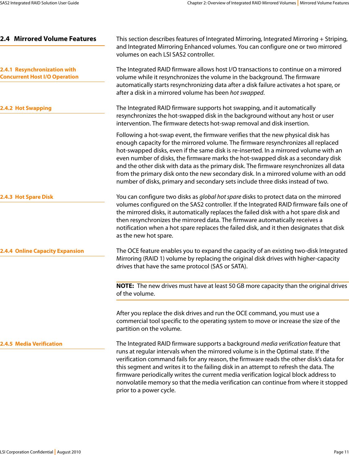 Lsi Sas2 Users Manual Integrated RAID Solution User Guide