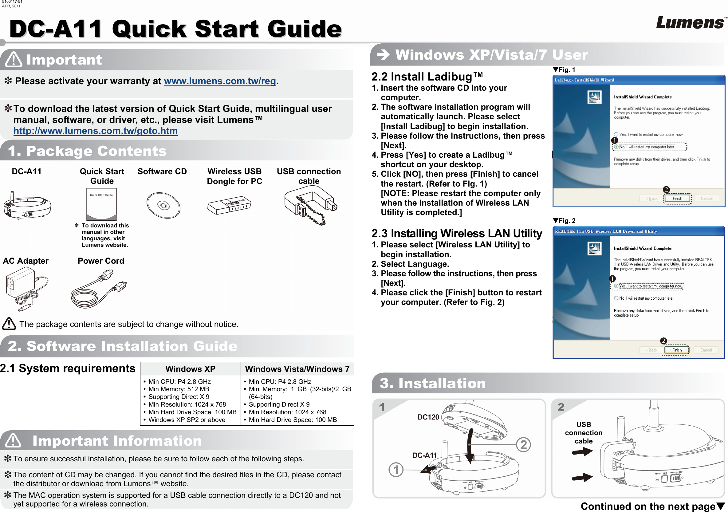 Lumens Technology Dc A11 Users Manual
