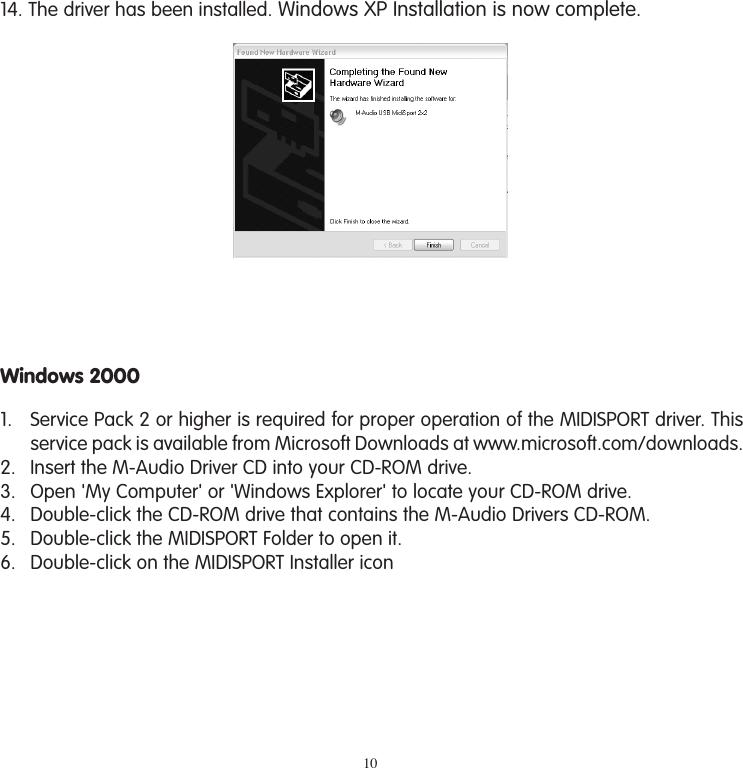 M Audio 1X1 Users Manual MIDISport Series (1x1, 2x2, 2x4, 4x4) User on