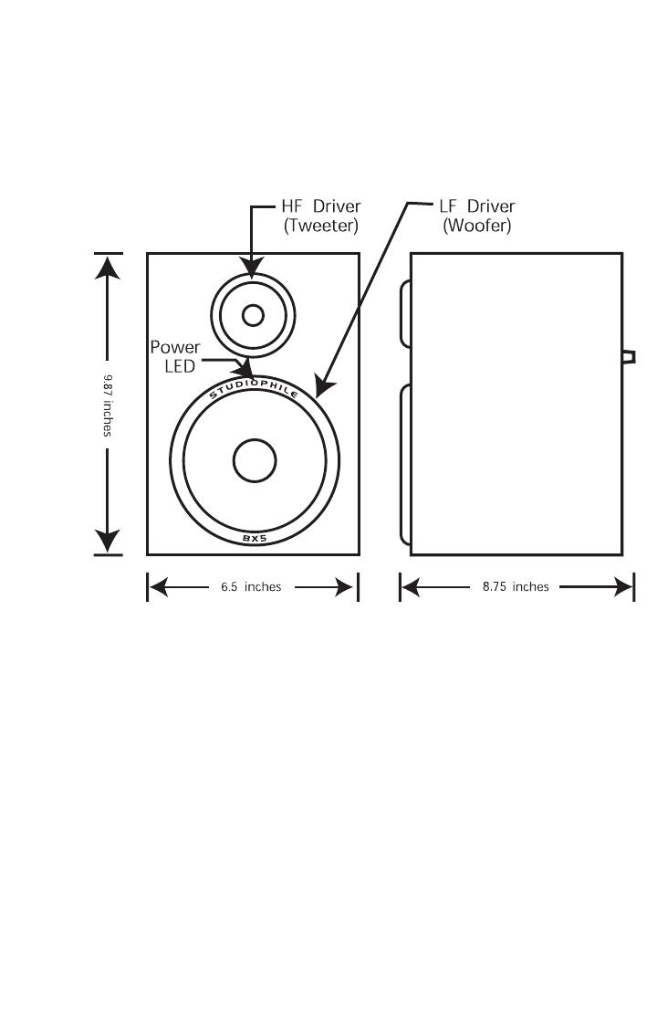 M Audio Studiophile Bx5 Users Manual 111402 Bx5a Circuit Diagram Front Panel