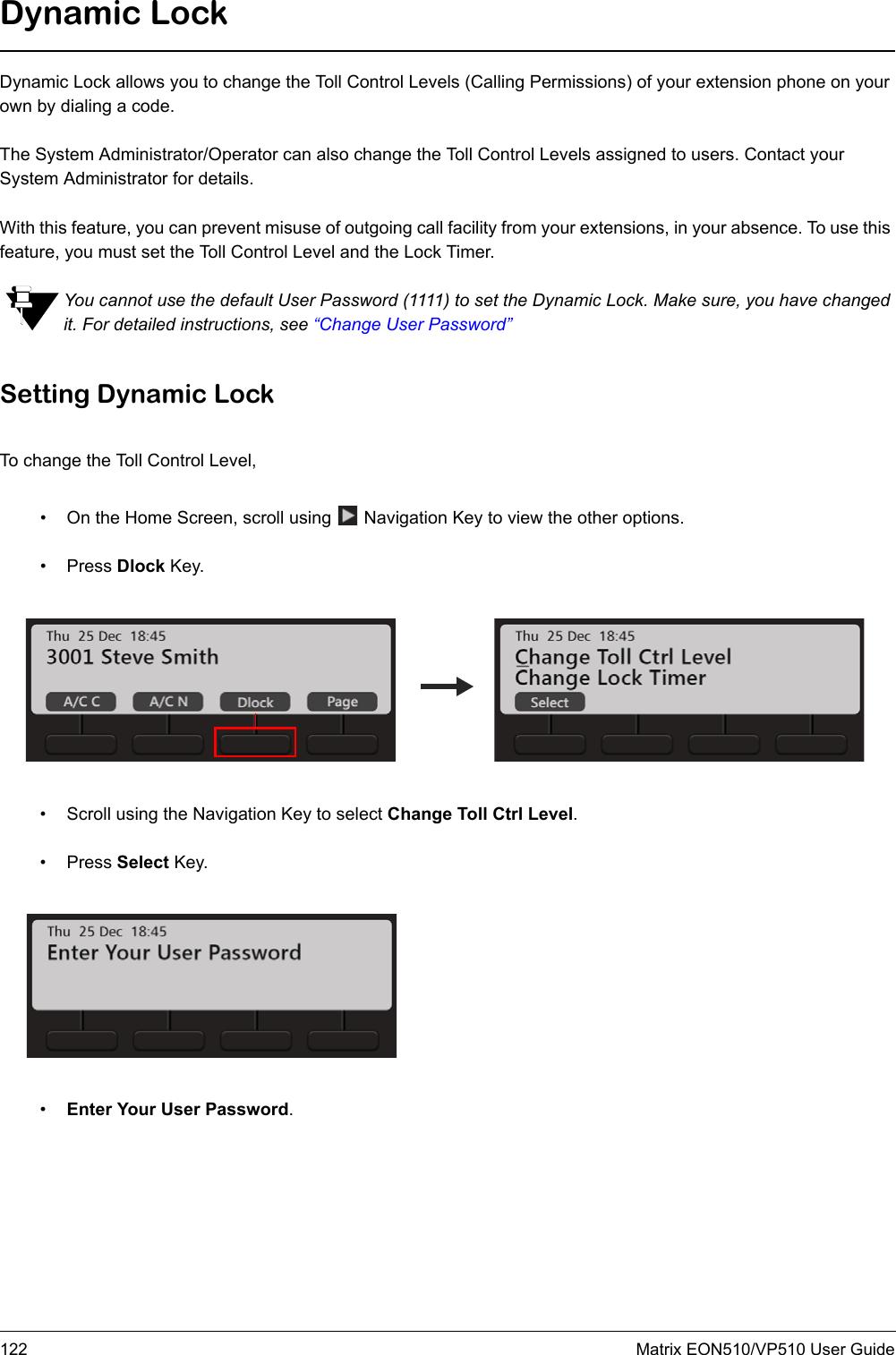 MATRIX COMSEC PVT VP510 SPARSH VP510 User Manual EON510 User