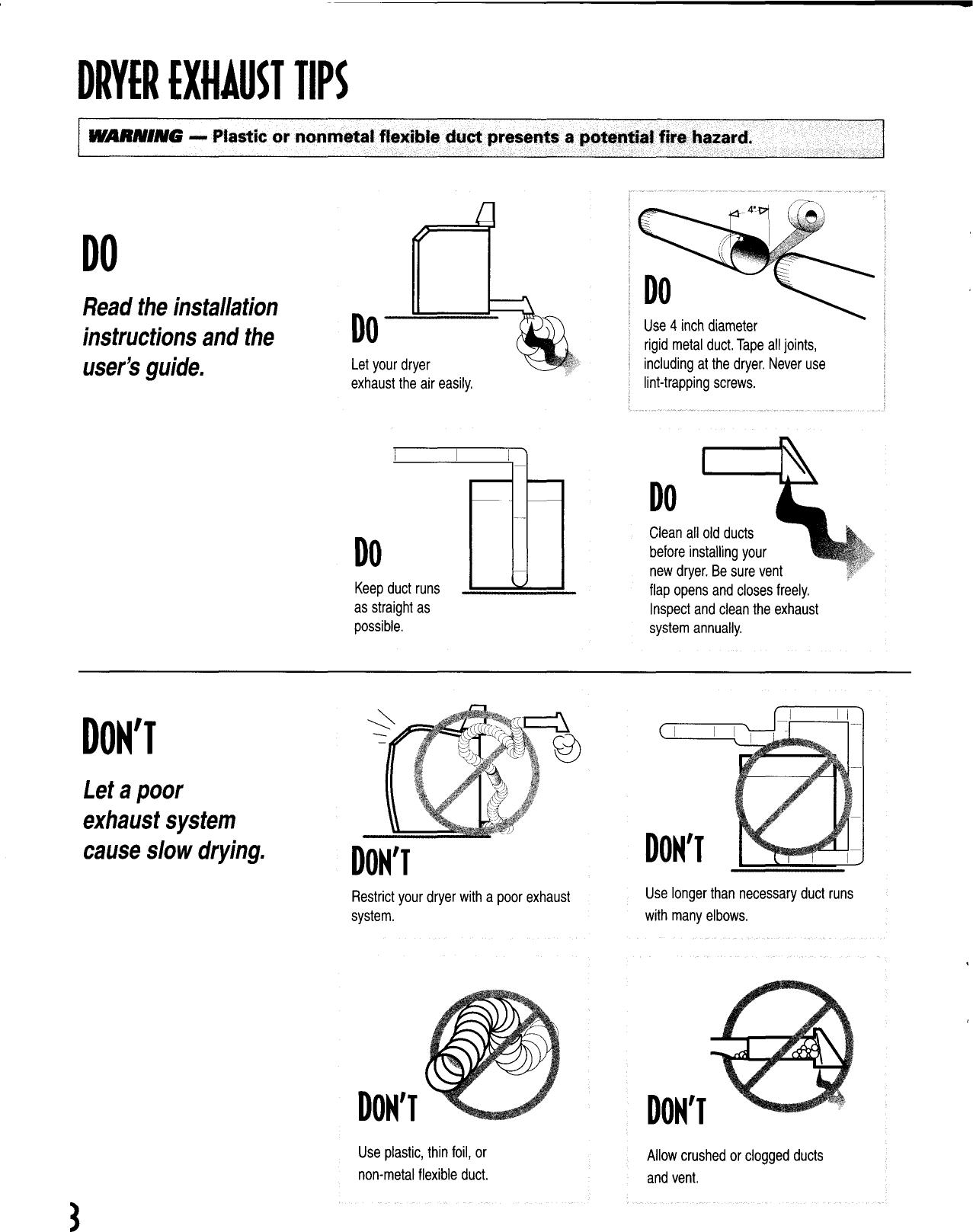 MAYTAG Residential Dryer Manual L0911307