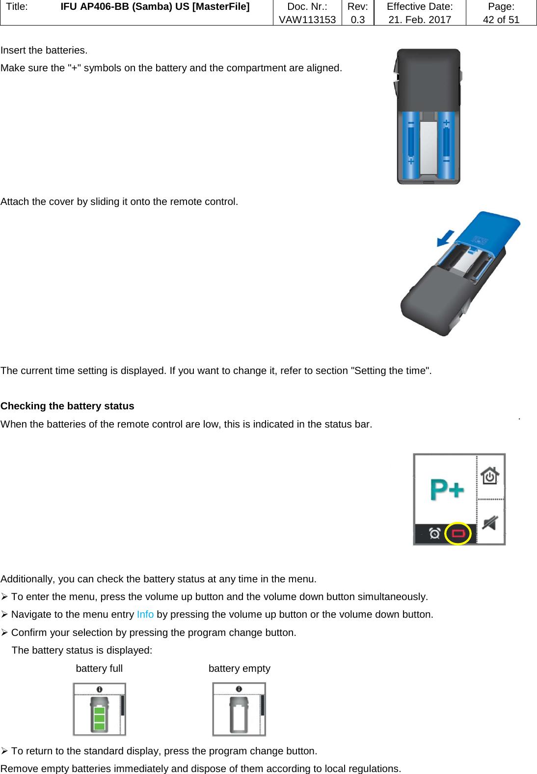 MED EL Elektro Ger te WL700 Remote Control User Manual Titel