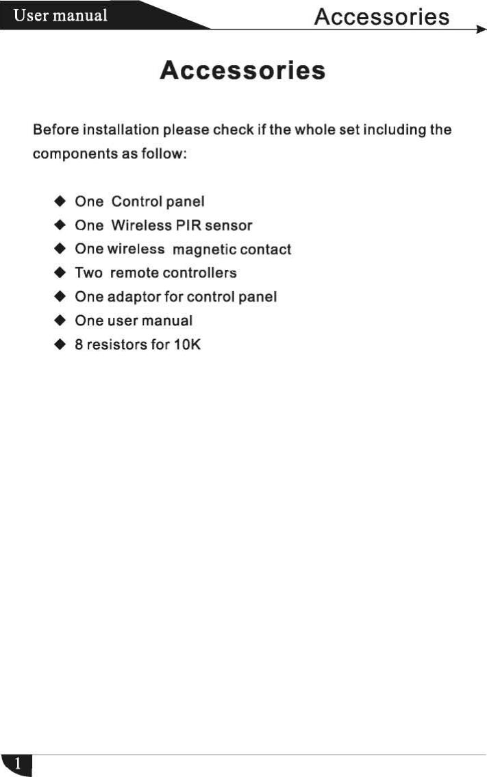 MEIAN Technology FC-300 Alarm control panel User Manual FC