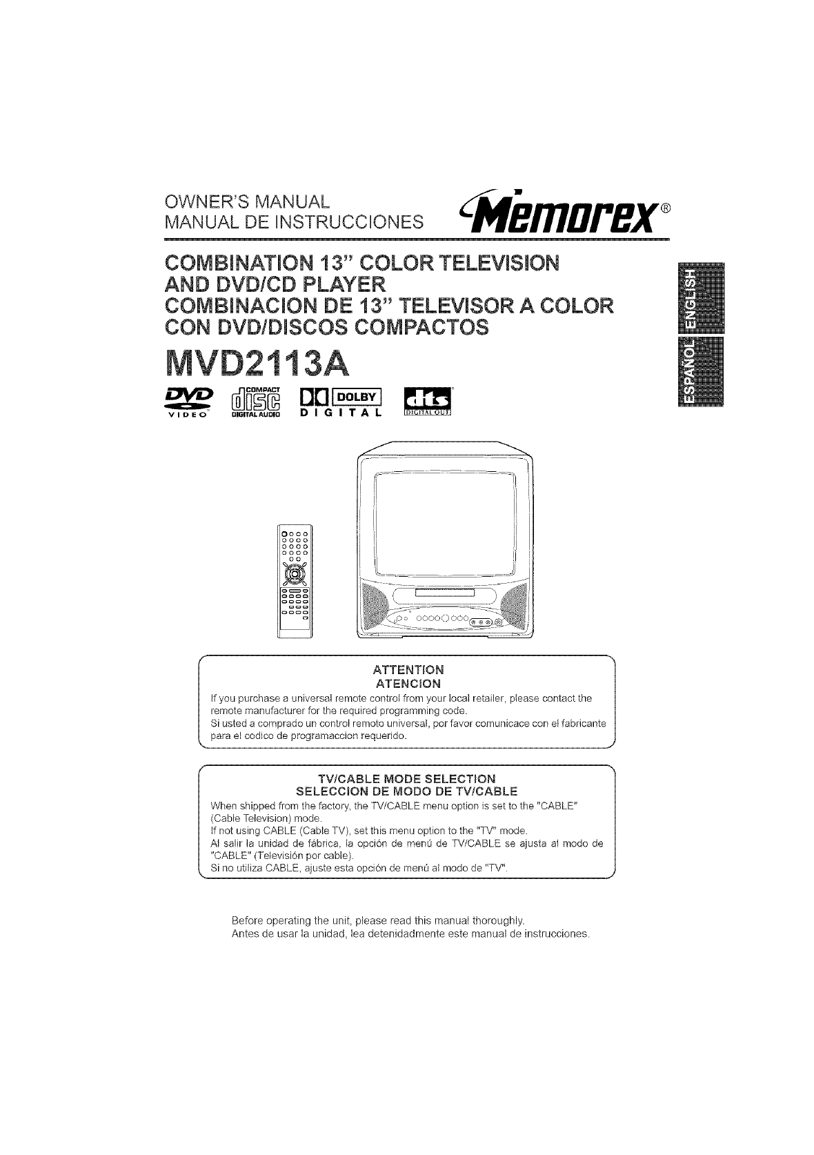 Memorex manual de cámara del vídeo