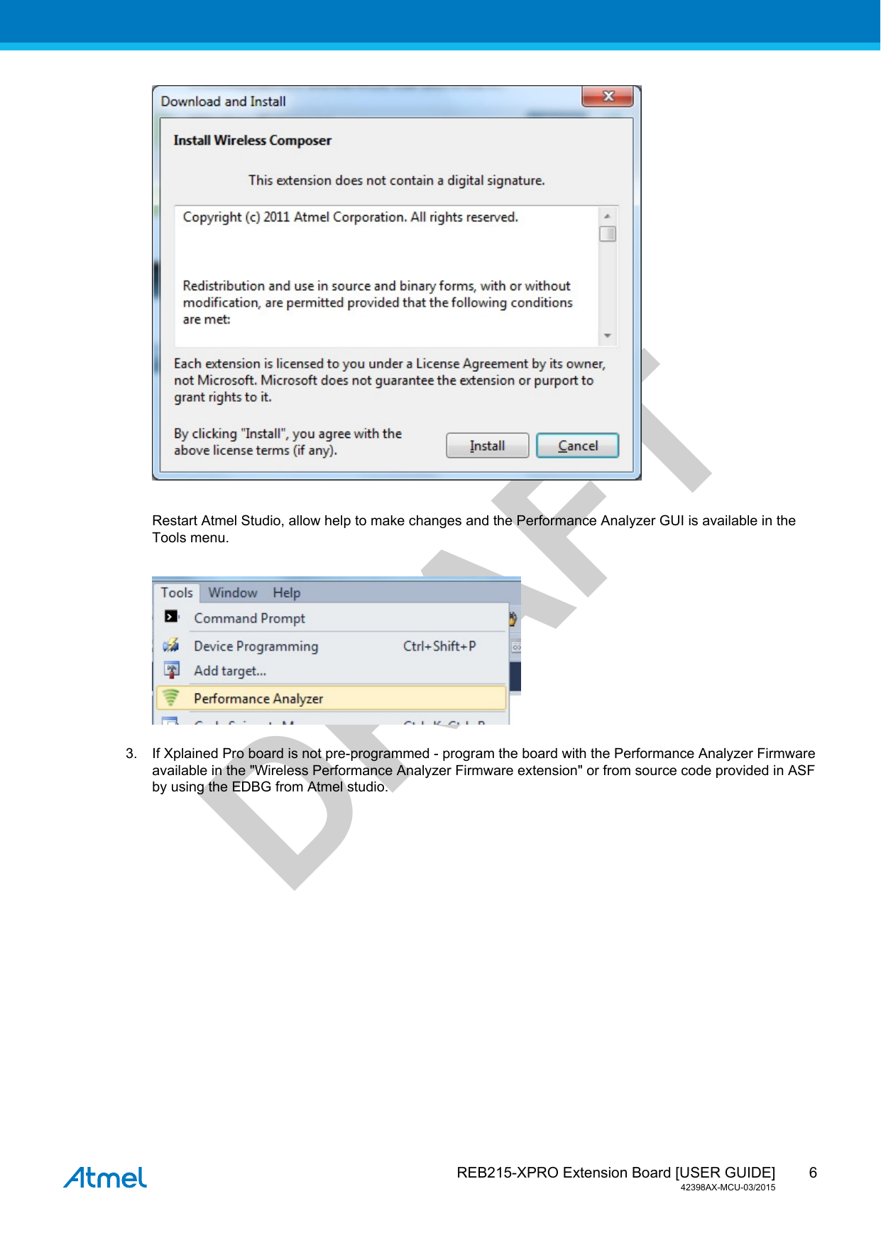 MICROCHIP TECHNOLOGY A091982 ATREB215-XPRO User Manual REB215 XPRO