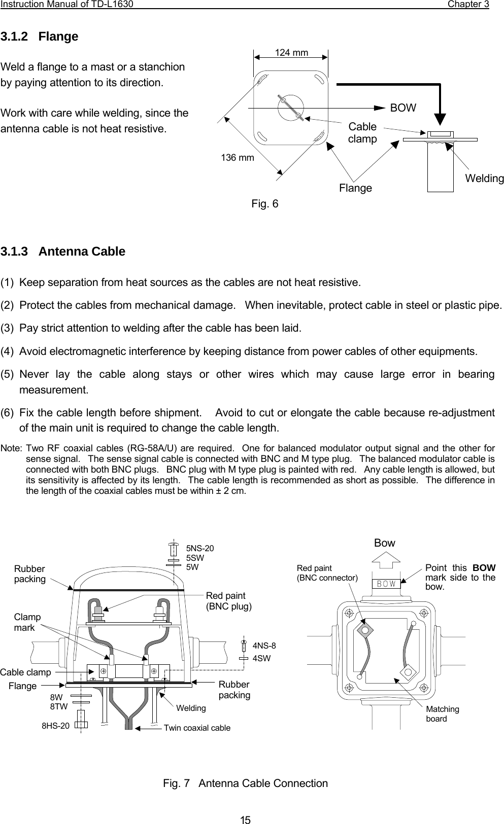 Mitsubishi Electric Tokki Systems 9jktd L1630 Scanning Receiver User L16 30 Wiring Diagram Instruction Manual Of Td Chapter 3 15312 Flange Weld A To