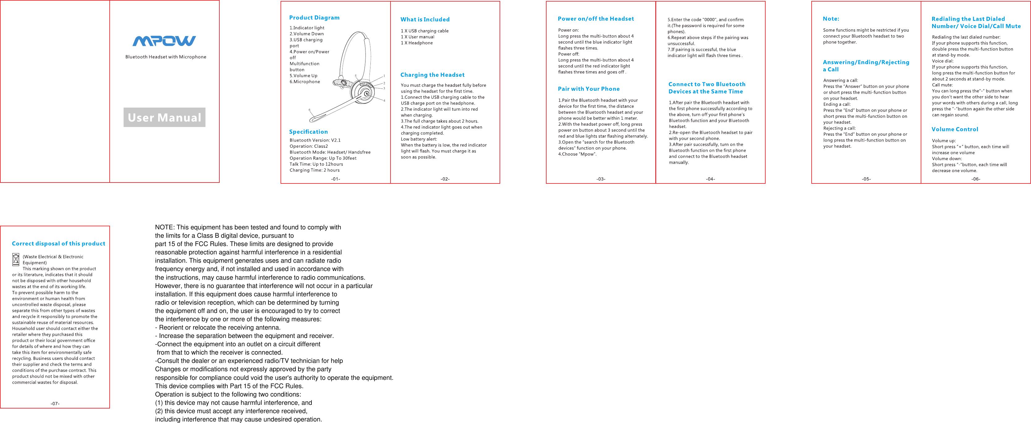 mpow h5 user manual pdf