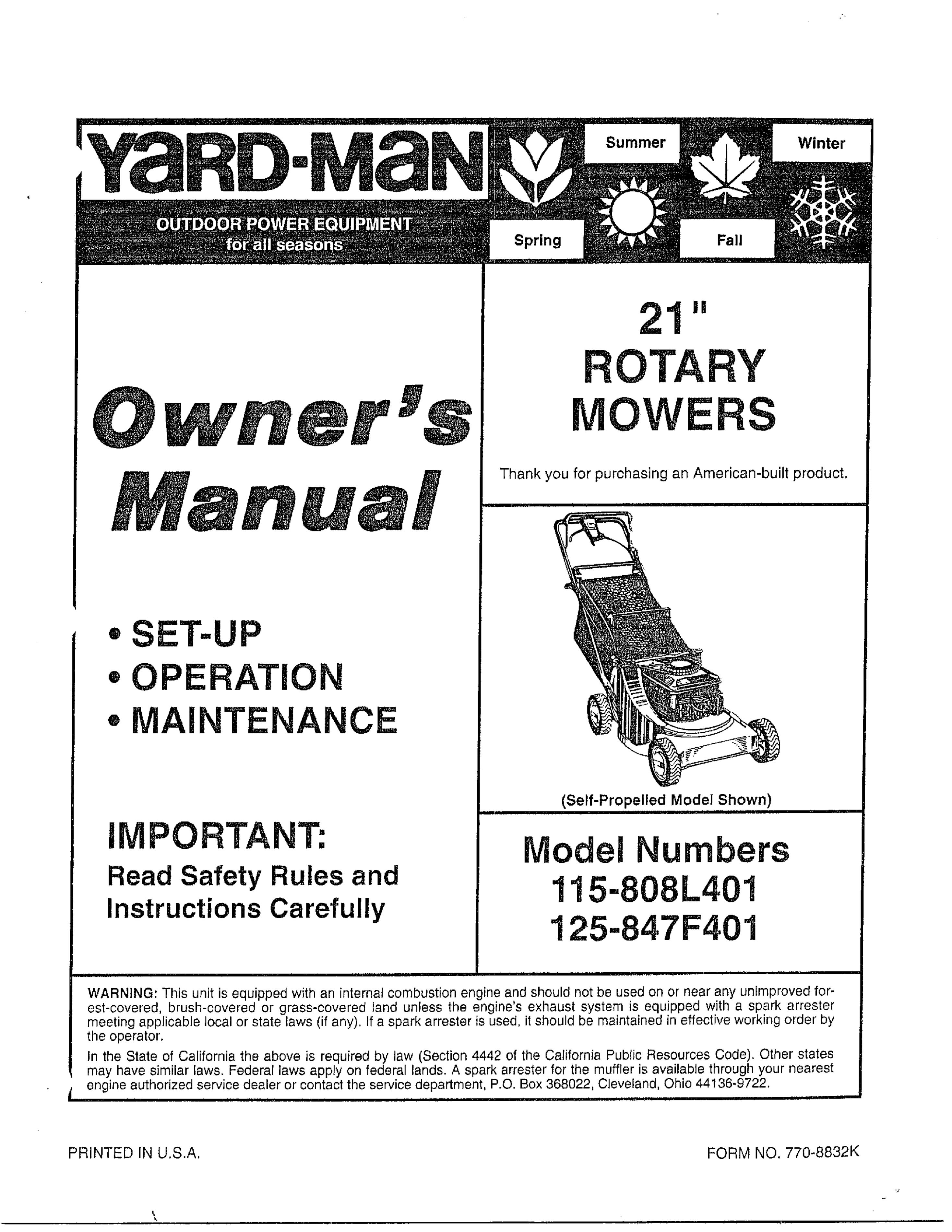 Mtd User Manual