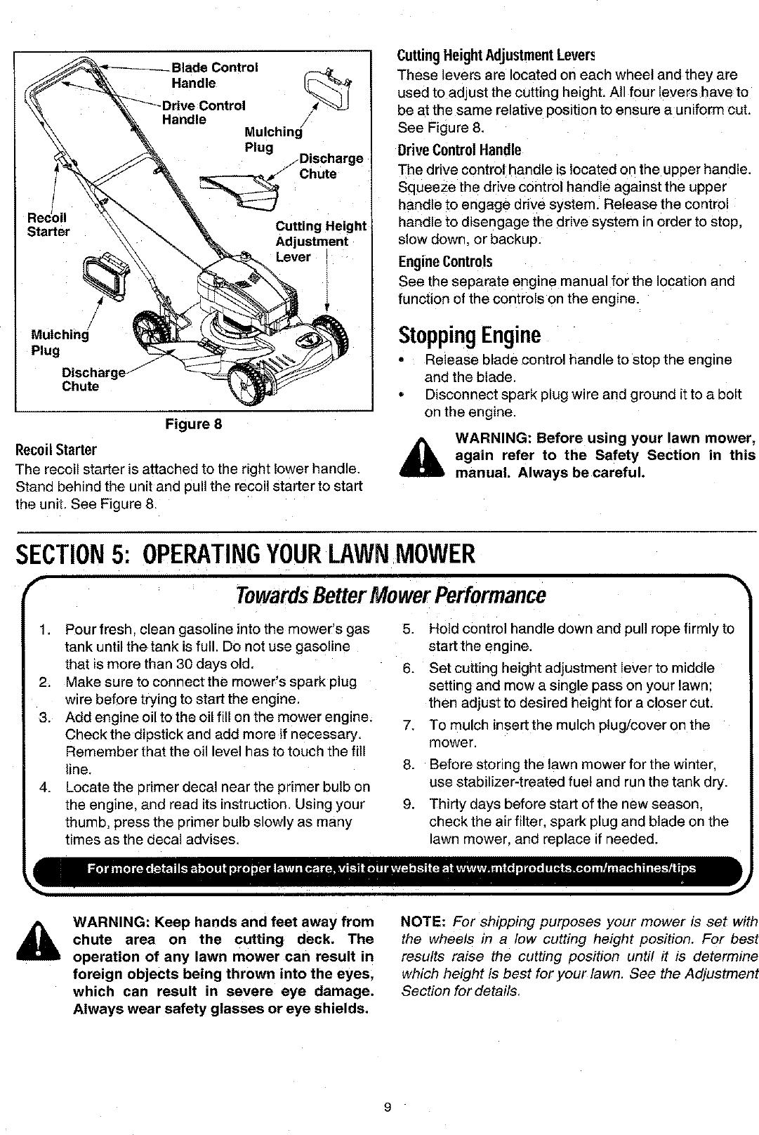 MTD 12B 264C062 User Manual LAWN MOWER Manuals And Guides