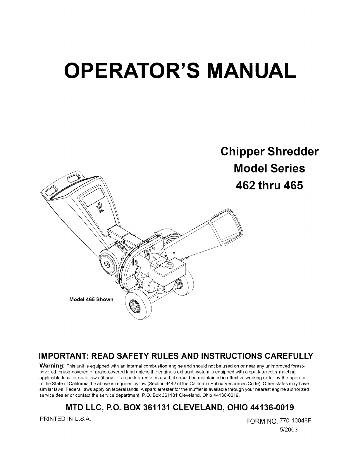 Mtd Engine Parts Diagram For Shredders