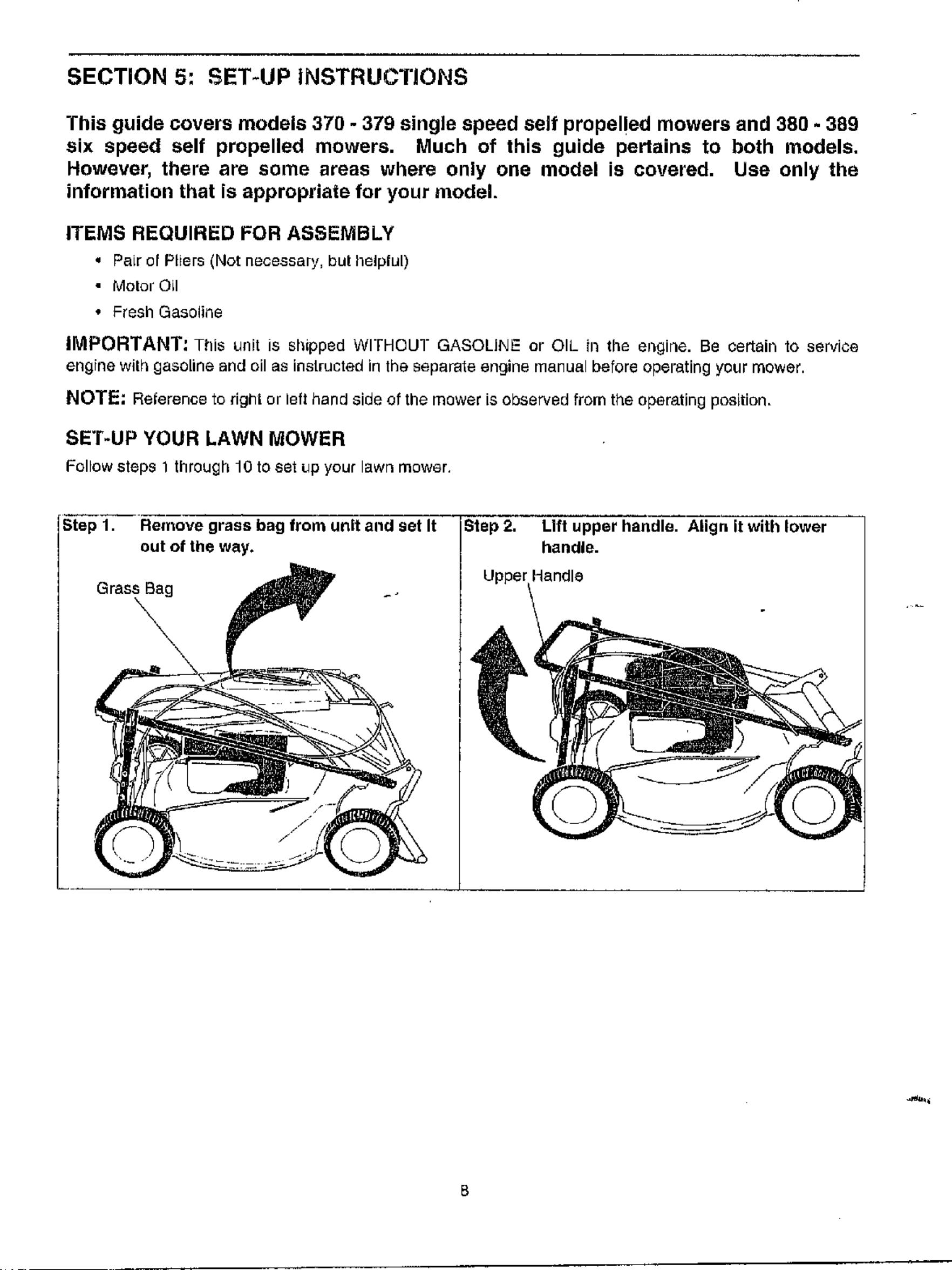 MTD Walk Behind Lawnmower, Gas Manual WL000313
